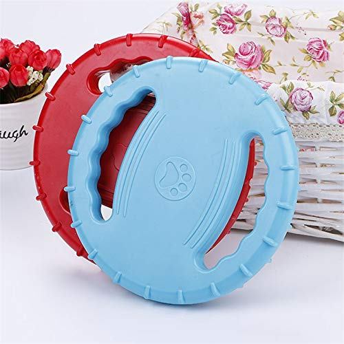 Flying Discs Dog Toys for Small to Large Dogs Toy Chew Dog Interactive Toy Red bluee Rubber Flying Discs with Grip Pets Supplies