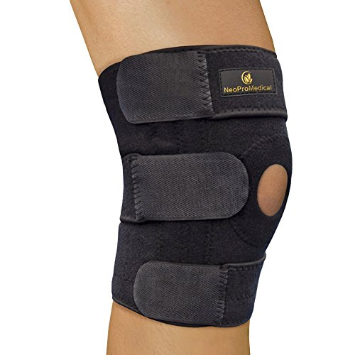 NeoProMedical Knee Support - Neoprene Breathable Knee Brace – Medium to Large Adjustable Size, Black Color