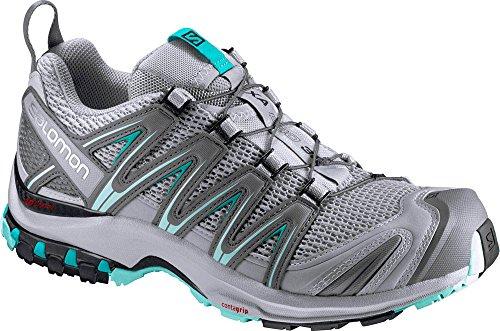 Salomon Women's XA Pro 3D W Trail Runner, Quarry/Pearl Blue/Aruba Blue, 9 B