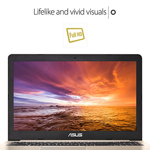 "ASUS VivoBook Thin and Light Gaming Laptop, 15.6"" Full HD, Intel Core i7-7700HQ Processor, 16GB DDR4 RAM, 256GB SSD+1TB HDD, GeForce GTX 1050 4GB, backlit keyboard - M580VD-EB76"