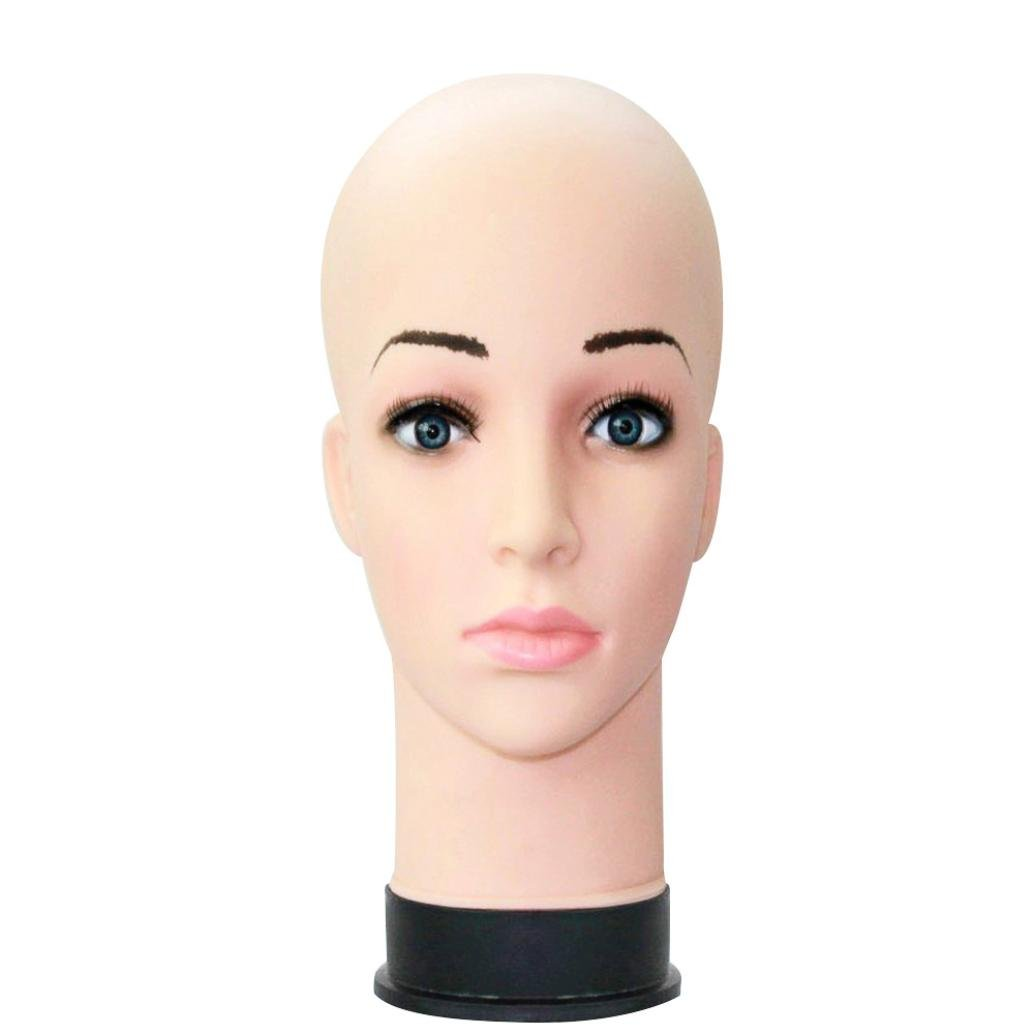 Head Model, Hometom Mannequin Female Foam Long Neck Head Model Hair Hat Wig Glasses Stand Display (H)