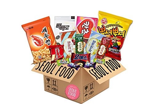 Korean Assorted Snacks - Military Care Package Variety Gift Set (20 Packs)