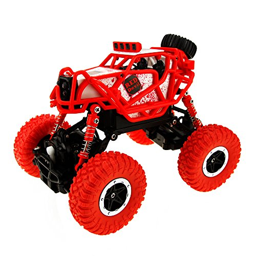 RC Cars Rock Off-Road Vehicle Crawler Truck 2.4Ghz 4WD High Speed 1:43 RC racing car(RED)