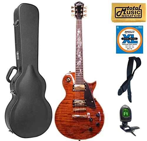 Oscar Schmidt OE20 Electric Guitar, Serpentine Quilted Case Bundle