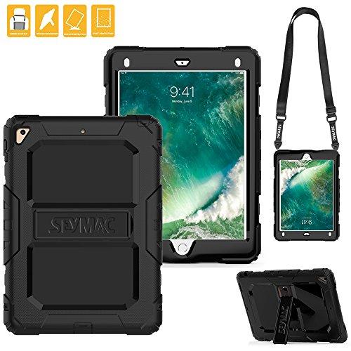 iPad 5th/6th Generation Case, SEYMAC Three Layer Heavy Duty