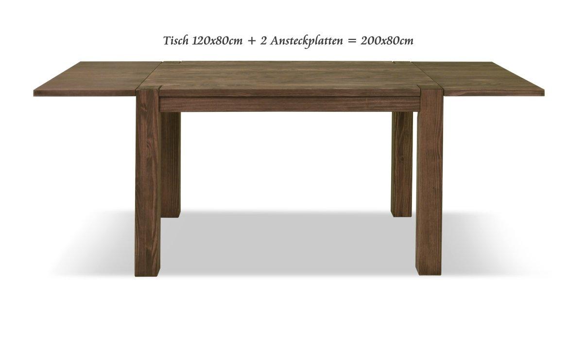 Esstisch ,,Rio Bonito,, 120x80 cm, Pinie Massivholz, geölt und ...