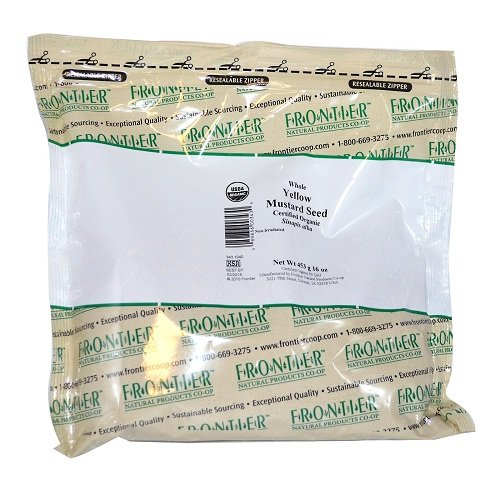 - Mustard Seed, Yellow Whole Organic Frontier Natural Products 1 lb Bulk