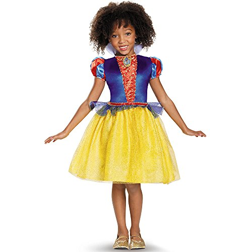 [Disguise Snow White Classic Disney Princess Snow White Costume, Medium/7-8] (Halloween Princess Costumes For Kids)