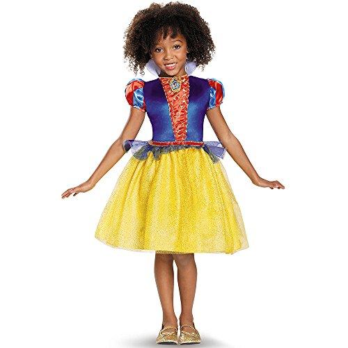 Disguise Snow White Classic Disney Princess Snow White Costume, Medium/7-8 (Halloween Costumes Snow White)