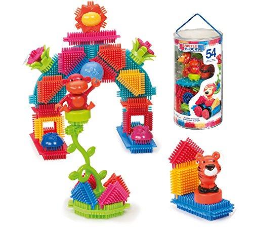 51Kv9j9N2KL - BRISTLE BLOCKS By BATTAT Bristle Blocks Toy Building Blocks for Toddlers (54 pieces)