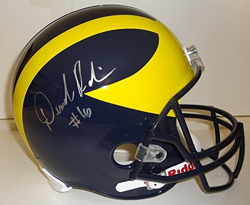 Denard-Robinson-Autographed-Michigan-Wolverines-Full-Size-Deluxe-Replica-Helmet-Autographed-College-Helmets