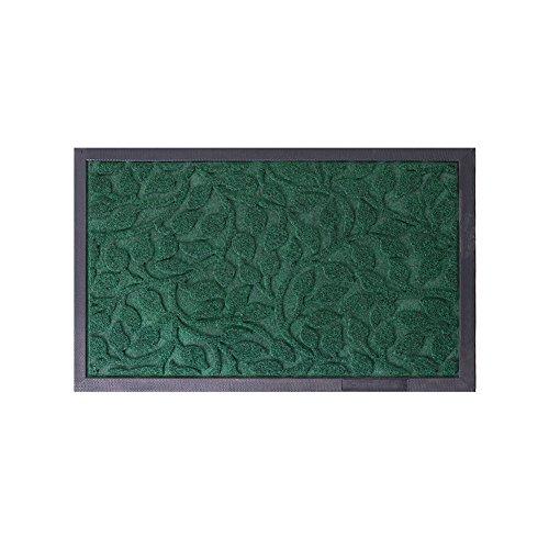 Outdoor Indoor Entrance Doormat, Super Absorbs Mud Latex Backing Non Slip Door Mat Entrance Waterproof Rugs Dirt Debris Mud Trapper Carpet for Patio Porch (Green 1)