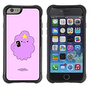 """Pulsar iFace Series Tpu silicona Carcasa Funda Case para Apple iPhone 6+ Plus(5.5 inches) , Angry Nube Estrella del dibujo del arte de la historieta"""""""