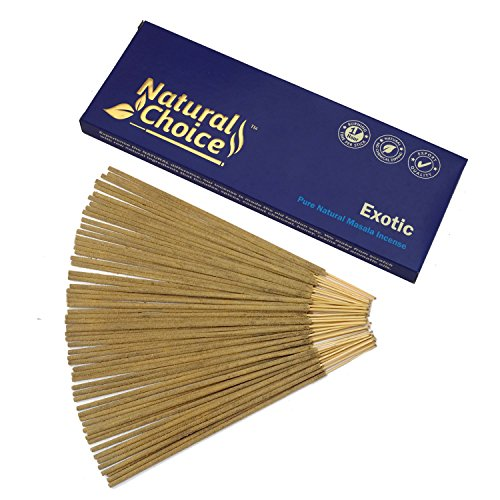 - Natural Choice Incense Exotic Incense Sticks 100 Grams, Low Smoke Traditional Incense Sticks Made from Scratch, Never Dipped