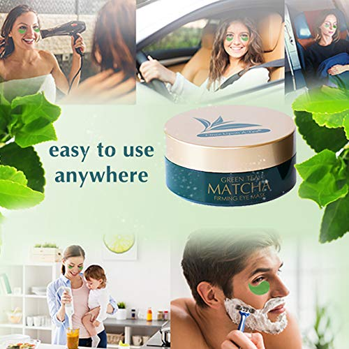 51KvAGiYnhL - Green Tea Matcha Firming Eye Mask, 30 Pairs Collagen Patches For Fine Lines, Wrinkles, Under Eye Bags & Puffy Eyes Treatment, Face Anti-Aging Gel Pads, Facial Dark Circles & Tired, Saggy Skin Care