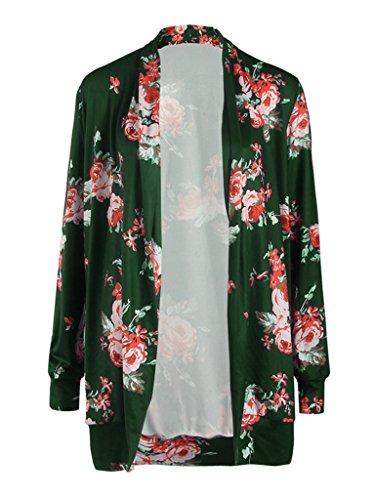 PERSUN Womens Floral Printed Cardigan