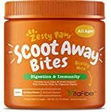 Scoot Away Soft Chews for Dogs - With Digestive Enzymes & Prebiotics + VitaFiber & Pumpkin + Dandelion Root for No Scoots - Anal Gland Sac & Bowel Support - For Dog Gas & Constipation - 90 Chew Treats