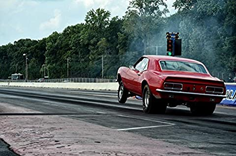 LAMINATED 36x24 Poster: Car Drag Power Speed Transportation Vehicle Race Racing Sport Fast Performance Drive Engine Muscle Car Muscle Old School Competition Automobile Auto Us - Old School Auto