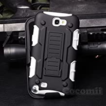 Galaxy Note 2 Case, Cocomii Robot Armor NEW [Heavy Duty] Premium Belt Clip Holster Kickstand Shockproof Hard Bumper Shell [Military Defender] Full Body Dual Layer Rugged Cover Samsung N7100 (White)