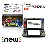 [new 3DS XL] Pokemon Omega Ruby and Alpha Sapphire Black White Limited Edition VINYL SKIN STICKER DECAL COVER for NEW Nintendo 3DS XL / LL Console System by Ci-Yu-Online