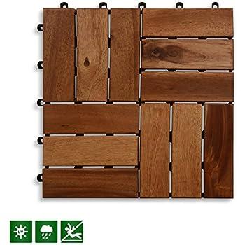 Acacia Wood Deck Tiles | Composite Decking, Flooring U0026 Patio Pavers |  Indoor And Outdoor Flooring Tiles| Check Pattern 12u201d×12u201d   Pack Of 11 Tiles