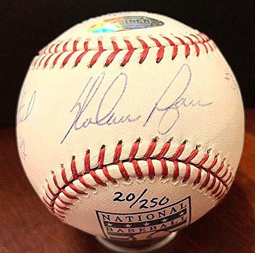 Ball Nolan Ryan (Autographed Nolan Ryan Ball - HOF Retirement Official Sports 20 250 - Steiner Sports Certified - Autographed Baseballs)