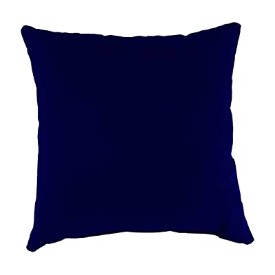 Plow & Hearth Polyester Classic Throw Pillow - 22 sq. x 8 Midnight Navy : Garden & Outdoor
