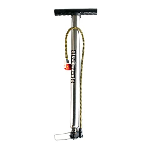 Freedom BikeTire Inflator Bicycle Air Pump, Portable with Made in India (2 feet Long, Silver)