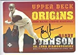 "RANDY JOHNSON 2005 Upper Deck Origins 5"" x 7"" Nostalgic Sign Arizona Diamondbacks Baseball"