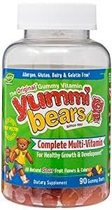 Yummi Bears Vegetarian Multi-Vitamin & Mineral for Kids, 90 Gummy Bears