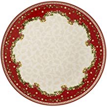 Winter Bakery Delight Cake Plate by Villeroy & Boch - Perfect for Christmas Gift or Entertaining - Premium Porcelain - Dishwasher and Microwave Safe - Gift Boxed - 12 Inches