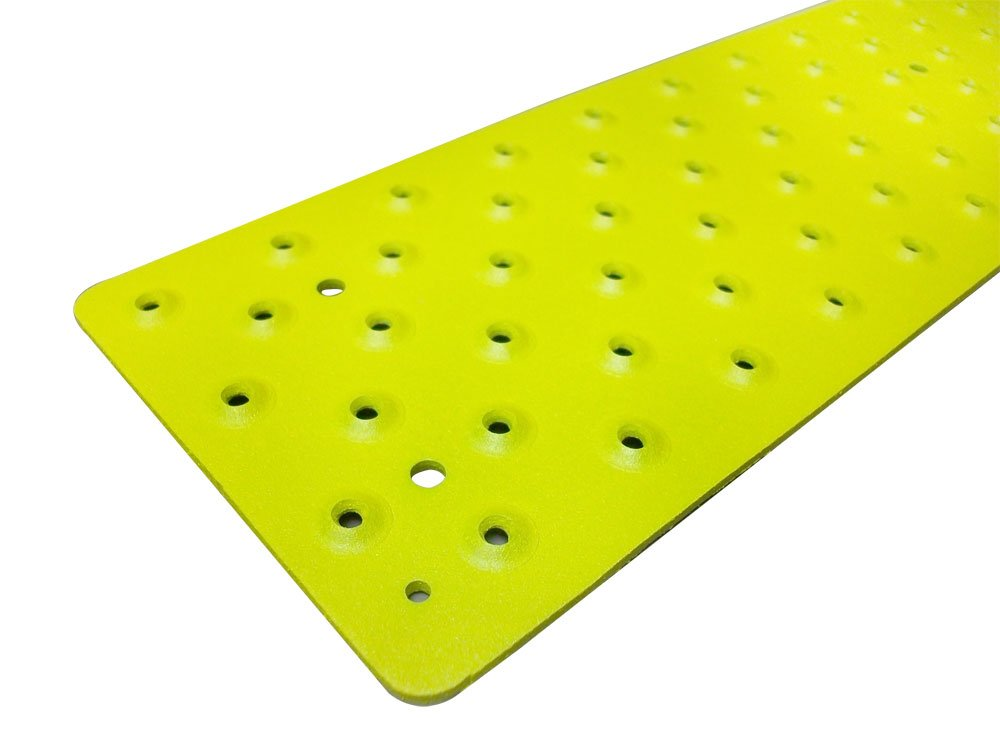 Handi-Treads Non Slip Aluminum Stair Tread,  Powder Coated Safety Yellow, 3.75'' x 30'' with Color Matching Wood Screws, Each