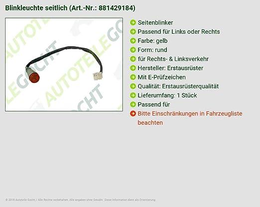 Para Lancia Y10 156 Fiat Blinker Intermitentes laterales Amarillo izquierda o derecha: Amazon.es: Coche y moto