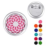 Valyria Stainless Steel Chrysanthemum Aromatherapy Essential Oil Diffuser Brooch Pin Jewelry