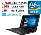 "2017 Flagship HP Pavilion 17.3"" HD+ High Performance Laptop PC, Intel Dual-Core i7-7500U up to 3.5GHz, 16GB DDR4, 1TB HDD, DVD Burner, DTS Sound, WLAN, Webcam, HDMI, USB 3.0, Windows 10"