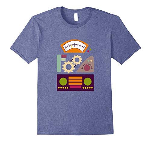Mens Robot Halloween Costume T-Shirt Dress Up For Halloween Medium Heather Blue