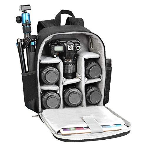 WanuigH Camera travel bag Multifunctional SLR Camera Bag Large Capacity Multi-lens Travel Camera Waterproof Steal…