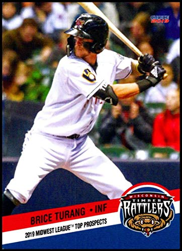 2019 Choice Midwest League Top Prospects #32 Brice Turang NM-MT Wisconsin Timber Rattlers Officially Licensed MiLB Baseball Trading Card ()