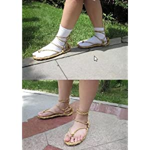 T2C BLEACH Cosplay Tabi socks sandals Bleach wind straw styl sandals [ L]