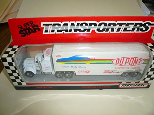 1994 Super Star Transporters Series II Jeff Gordon #24 DuPont Racing In Blue Diecast Scale Model By Matchbox - Antique Matchbox Cars