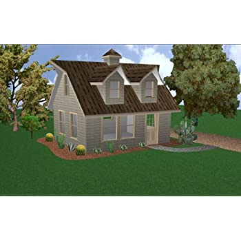 Amazon com: Easy Cabin Designs 28x28 Cabin W/loft Plans Package