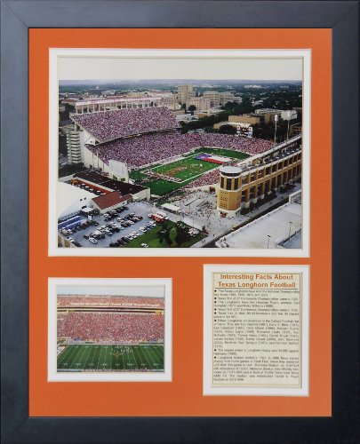 Legends Never Die Texas Longhorns Darrell K Royal Texas Memorial Stadium Framed Photo Collage, 11 by 14-Inch
