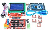 Quad Store(TM) - 3D Printer kit with Arduino Mega 2560, Ramps1.4 Shield, A4988 and 12864 Smart LCD