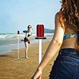 ROPODA Flying Disc, Frisbee Game Set with Disc and Pole, Disc Toss Game for Beach,Lawn, Backyard or Park