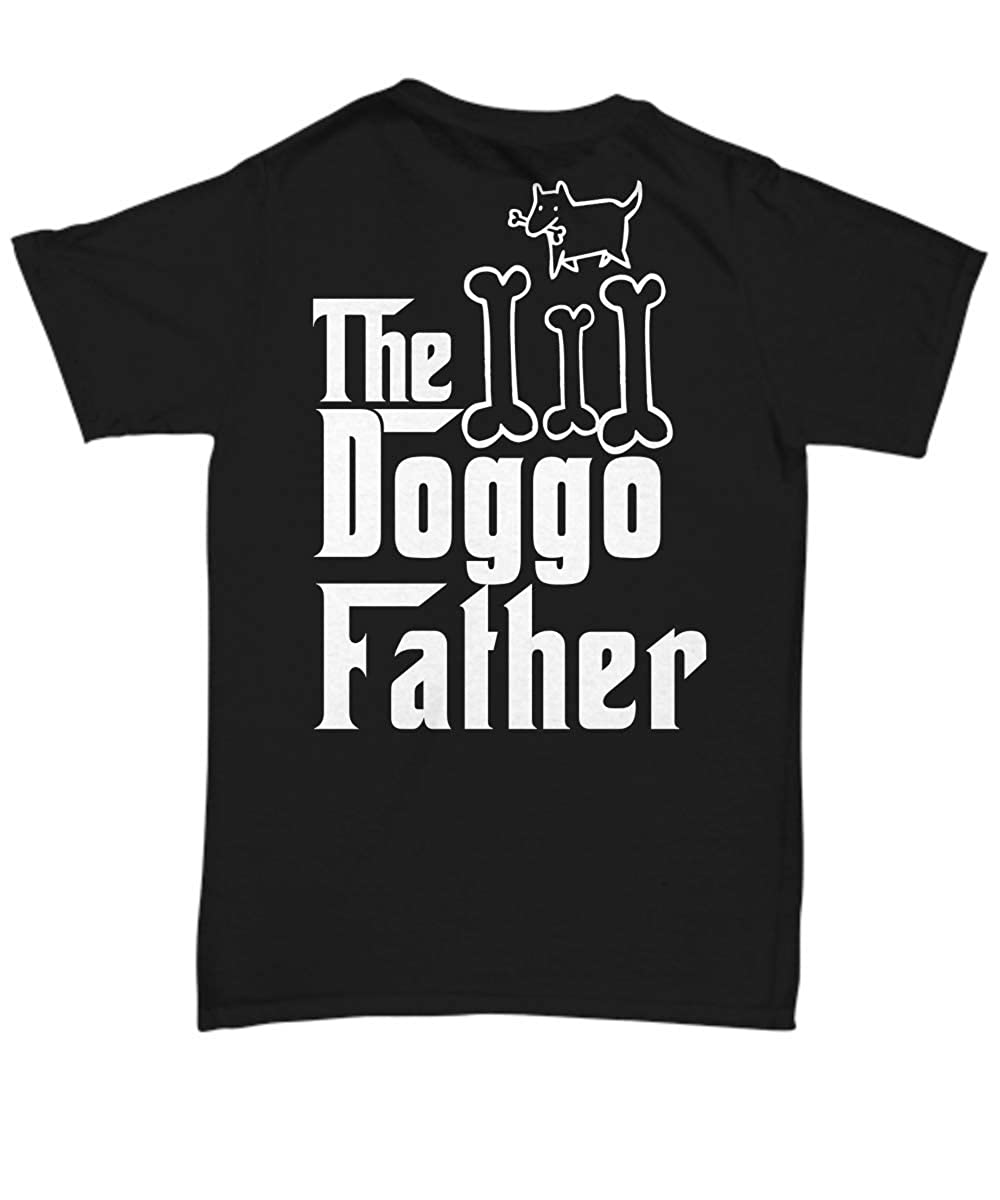 Gift for Dogspotting Player The DoggoFather T-Shirt Doggo Lover Dog Dad Unisex Tee