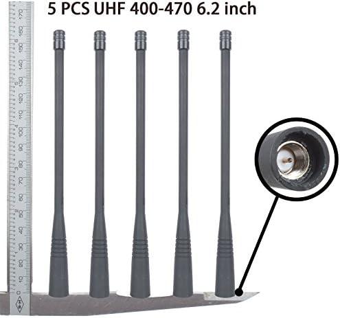 [해외]Guanshan 5X 6.2inch UHF Whip Antenna for Vertex VX351 VX150 VX151 VX152 VX160 VX168 VX180 VX210 VX230 VX300 VX350 VX410 VX428 VX429 VX920 VX829 VX924 VX929 VX418 VX420 Radio / Guanshan 5X 6.2inch UHF Whip Antenna for Vertex VX351 V...