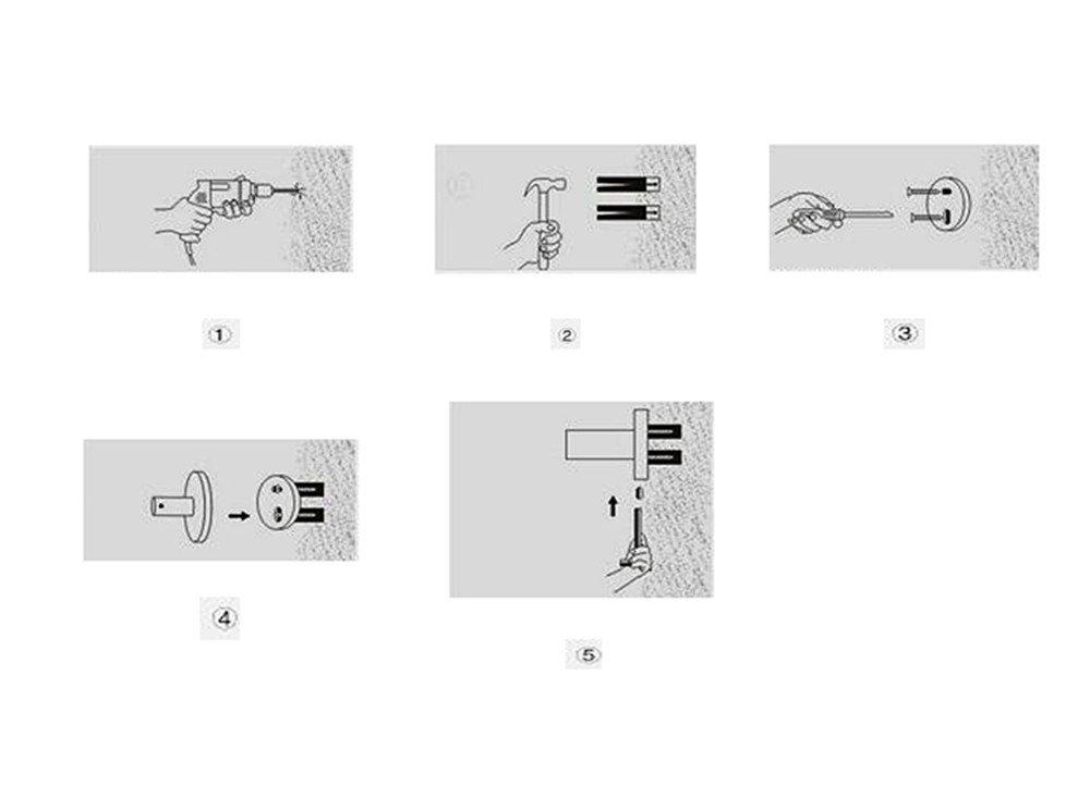 4 bewegliche f/ür K/üche und Bad 38cm*3.5cm L/&HM Handtuchhalter,Edelstahl gl/änzend