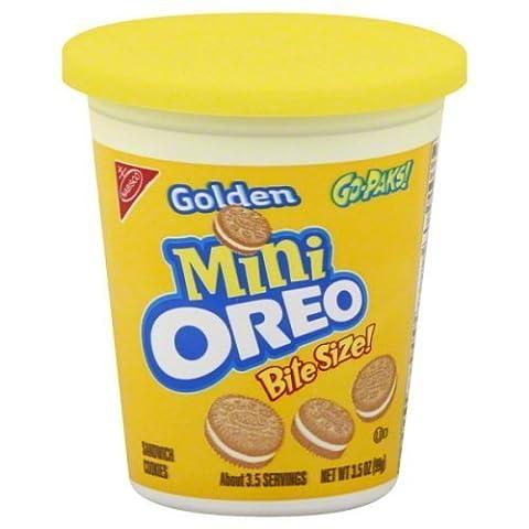 Oreo Mini Sandwich Cookies Bite Size Go-paks 3.5 Oz (Pack of 6) (Golden) by Oreo (Bite Size Oreos)