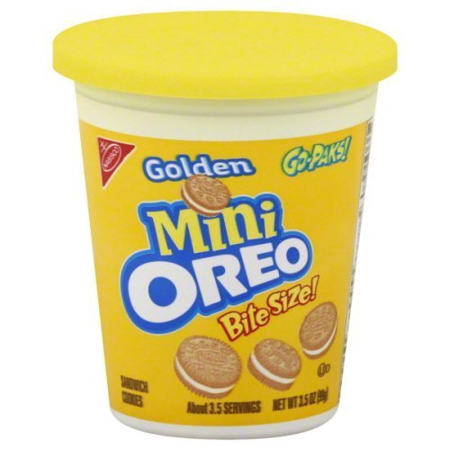 Oreo Mini Sandwich Cookies Bite Size Go-paks 3.5 Oz (Pack of 6) (Golden) by Oreo