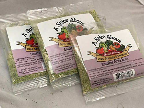 A Spice Above Stuffed Artichoke Dip/Seasoning (3 Pack)
